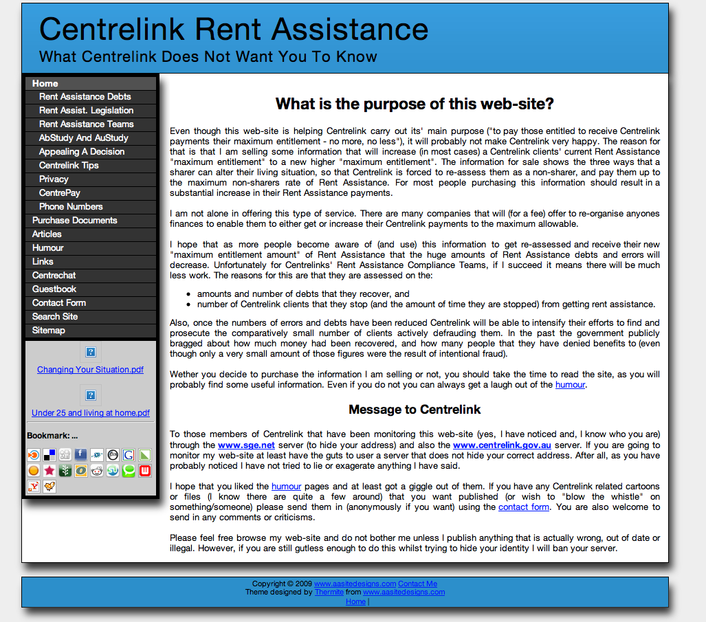 Portfolio of websites created by AA Site Designs – Rental Assistance Form